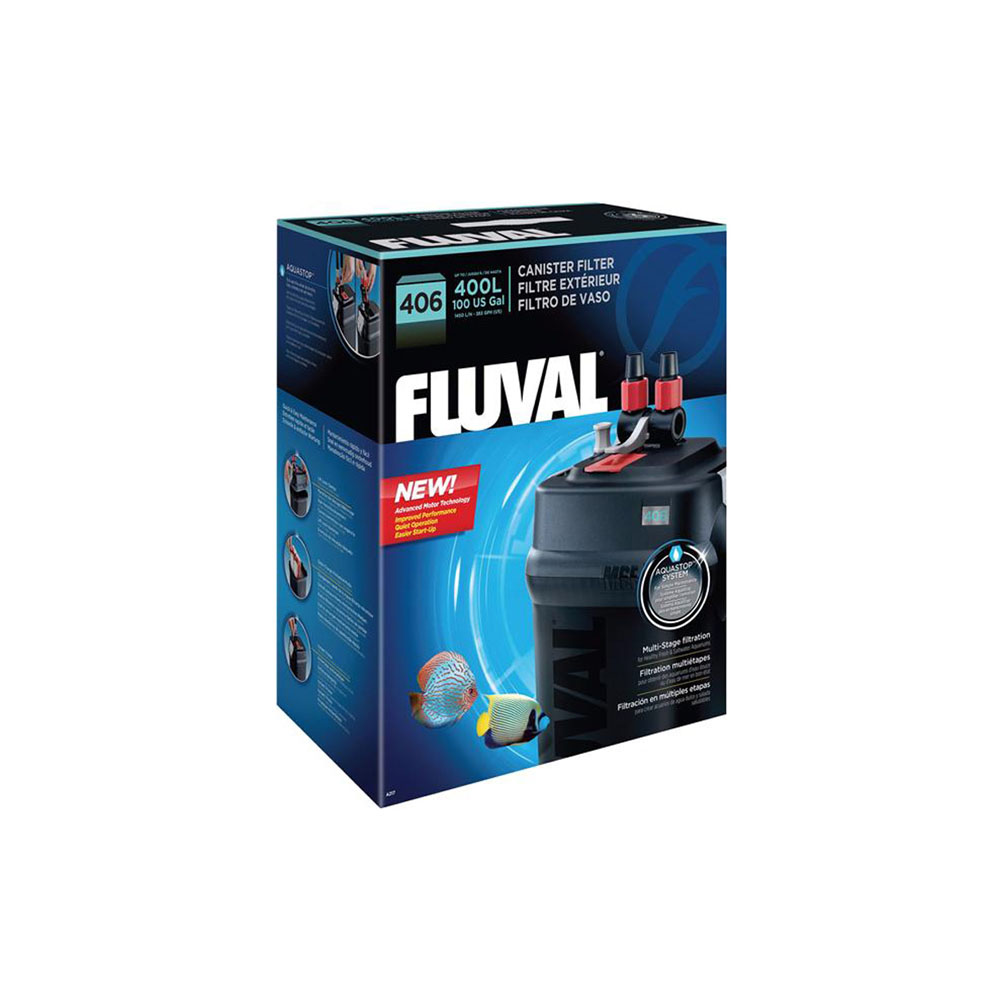 Fluval 406 canister filter serene aquarium for Filtre aquarium rond