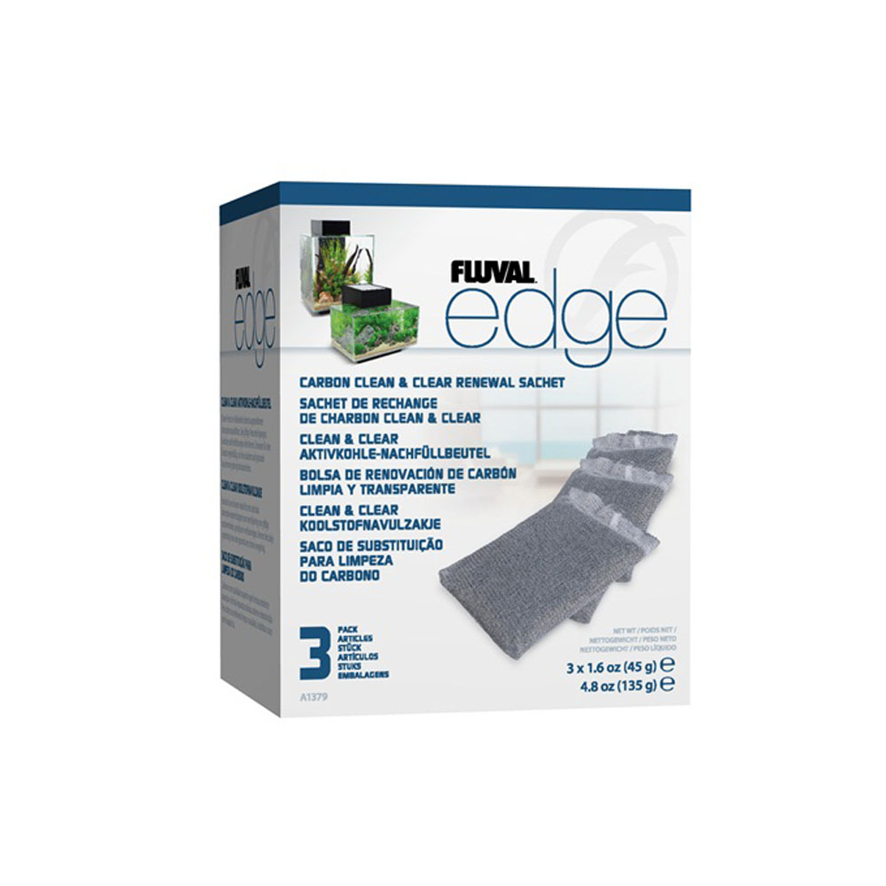 Fluval EDGE Carbon Clean & Clear Sachet - 3 pack