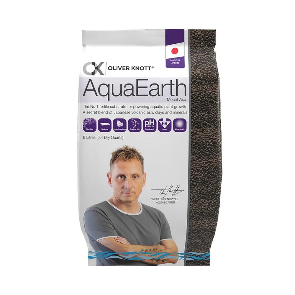 PISCES NATURAL PRODUCTS AquaEarth Fertile Substrate by Oliver Knott 6 Litres