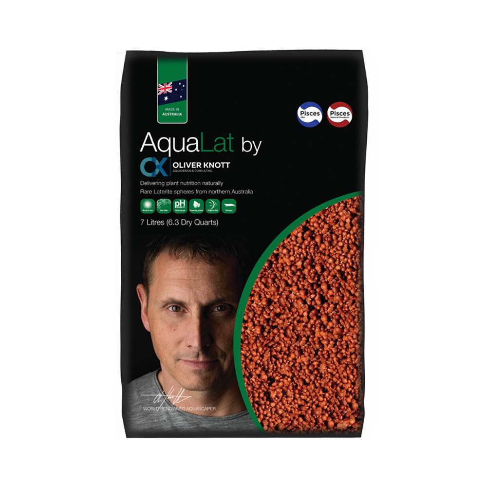 PISCES NATURAL PRODUCTS AquaLat Substrate by Oliver Knott Laterite 7 Litres